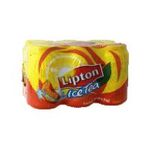 Lipton -  ice tea boisson au the plate boite metal the glace a la peche  6ct etagere  3228886031001