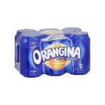 Orangina -  soft drinks gazeux boite metal orange standard  6ct pas de cafeine boisson aux fruits gazeuse etagere  3249760019618