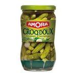 Amora -  croq doux cornichon bocal avec puisette vinaigre epice et aromate regular / pasteurise extra fin doux  3250541922317