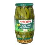 Amora -  croq vert cornichon bocal verre vinaigre regular / pasteurise fin  3250546207822