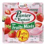 Yoplait - Panier de Yoplait - Yaourt aux fruits mixés Fraise 3329770001091