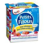 Yoplait - Petits filous - Fromage frais Fraise Framboise Pêche Banane 3329772616736