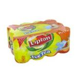 Lipton -  ice tea boisson au the plate boite metal the glace a la peche  12ct etagere  3502110003324