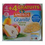 Andros -  Granité -  Compote Pomme Poire sans sucre ajouté 3608580001478