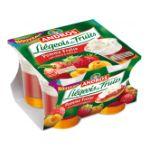 Andros -  Liégeois de fruits -  Liégeois de fruits pomme fraise et coulis d'abricot 3608580745242