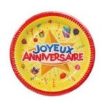 Dynsatrib -  Lot 6 assiettes joyeux anniversaire 3760126000212