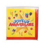 Dynsatrib -  Lot 20 serviettes joyeux anniversaire 3760126000229