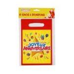 Dynsatrib -  Lot 6 sacs bonbons joyeux anniversaire 3760126000281