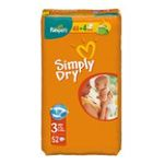 Pampers - PAMPERS SIMPLY DRY T3 X48 |  simply dry couche jetable panty sac 52ct 2ct 4-9 kg midi unisexe  4015400425625