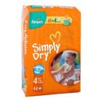 Pampers - PAMPERS |  simply dry couche jetable panty sac 44ct7-18 kg maxi unisexe  4015400425656