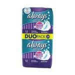 Always - ALWAYS |  ultra serviettes sanitaires sac non parfume 24ct 2ct avec ailette ultra mince long plus serviette hygienique  4015400494225