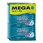 Always - ALWAYS |  ultra serviettes sanitaires sac non parfume 38ctavec ailette ultra mince normal plus serviette hygienique  4015400495987
