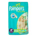 Pampers -  46x t4+ baby dry geant pampers 4015400498803