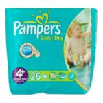 Pampers - PAMPERS BB/DRY T4+-9/ X26  MAXI+ | PAMPERS BB/DRY T4+-9/20KG X26  MAXI+ 4015400501268