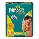 Pampers -  80x pampers baby dry value t3 4015400501572