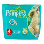 Pampers - PAMPERS BB/DRY T4 -7/ X28  MAXI | PAMPERS BB/DRY T4 -7/18KG X28  MAXI 4015400502524