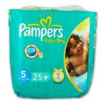 Pampers - PAMPERS BB/DRY T5 11/ X25 JUNIOR | PAMPERS BB/DRY T5 11/25KG X25 JUNIOR 4015400502555