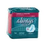 Always - SAC.14 SERVIETTES ULTRA NORMALES PLUS ALWAYS |  ultra serviettes sanitaires sac non parfume 14ctavec ailette ultra mince normal plus serviette hygienique  4015400524076