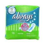 Always - SAC.SERVIETTES ULTRA NORM ALWAYS |  ultra serviettes sanitaires sac non parfume 16ctsans ailette ultra mince normal serviette hygienique  4015400524113