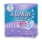 Always - S.14 ALWAYS ULTRA LONG |  ultra serviettes sanitaires sac non parfume 14ctsans ailette ultra mince long serviette hygienique  4015400524199