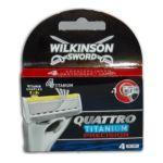 Wilkinson -   sword quattro titanium precision lame de rasoir blister1ct flexible homme 4 lames  4027800009008