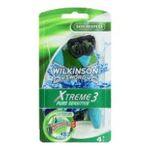 Wilkinson -   sword xtreme iii pure sensitive rasoir jetable sachet plastique 4cttete fixe homme 3 lames  4027800070732