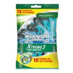 Wilkinson -   sword xtreme iii pure sensitive rasoir jetable sachet plastique 12cttete fixe homme 3 lames  4027800071036