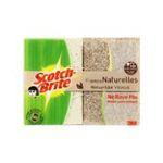 3M -  SCOTCH |  brite ne raye pas combine sachet plastique 2ctmoyen fibre naturelle tout usage rectangle  4046719222889