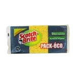 3M -  SCOTCH |  brite pack eco combine sachet plastique 3ctmoyen vegetale surface sensible rectangle  4046719285914