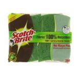 3M -  SCOTCH |  brite fibres recyclees combine sachet plastique 2ctmoyen fibre recyclee tout usage ergonomique  4046719384242