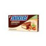 Snickers -  glace individuelle boite carton amande et caramel  6ct sauce caramel barre chocolat au lait meuble surgele  5000159453905