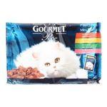 Gourmet -   gourmet perle nourriture pour chat pochon saumon ou boeuf ou lapin ou poulet  4ct tous chats mini filet en sauce  5000161032433