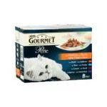 Gourmet -   gourmet perle nourriture pour chat pochon dinde ou thon ou agneau ou canard  12ct tous chats mini filet en sauce  5000161032457