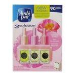 Ambipur -   pur 3volution diffuseur electrique boite carton fleur de paradis1ct recharge multi usage liquide diffuseur electrique modulable multichambre  5410076309252