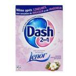 Dash -   2 en 1 lenor lessive poudre  amande douce et fleur de coton adoucissant 5410076766765