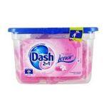 Dash -   2 en 1 lenor lessive capsule liquide  pivoine et notes de jasmin adoucissant concentre 5410076769452
