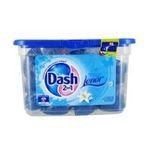 Dash -   2 en 1 lenor lessive capsule liquide  fleur de lys et perles de rosee adoucissant concentre 5410076769551