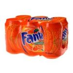 Fanta -  soft drinks gazeux boite metal orange standard  6ct pas de cafeine soda gazeux etagere  5449000056689