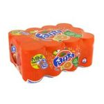 Fanta -  soft drinks gazeux boite metal orange standard  12ct pas de cafeine soda gazeux etagere  5449000104014