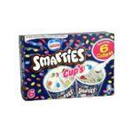 Smarties -  smarties cup's glace individuelle boite carton vanille  6ct mini smarties et eclat de smarties petit pot non enrobe meuble surgele  7613031030187