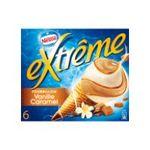 Extrême - GERVAIS |  extreme glace individuelle boite carton tourbillon vanille et caramel  6ct sauce caramel cone de creme glacee non enrobe meuble surgele  7613031593859