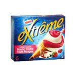 Extrême - GERVAIS |  extreme glace individuelle boite carton tourbillon panna cotta et fruit rouge  6ct sauce fruit rouge cone de creme glacee non enrobe meuble surgele  7613032231668