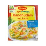 Maggi - MAGGI fix & fresh ribbon noodles with salmon (Bandnudeln mit Lachs) (Pack of 4) 7613032303532