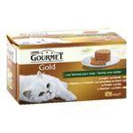 Gourmet -  L.4 GOURMET GOLD LAPIN ROGNON/AGNEAU/SAUMON |  gourmet gold nourriture pour chat boite de conserve lapin ou agneau et canard ou poulet ou saumon  4ct tous chats terrine  7613032959425