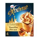 Extrême - GERVAIS |  extreme glace individuelle boite carton vanille pecan  4ct sauce caramel et eclat de noix de pecan caramelisee cone a l'americaine non enrobe meuble su-1r,0 7613033113727