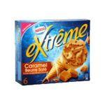 Extrême - GERVAIS |  extreme glace individuelle boite carton caramel beurre sale  6ct eclat de caramel et sauce caramel beurre sale cone de creme glacee non enrobe meu-b,5e9 s% 7613033113772