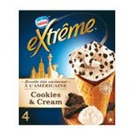 Extrême - GERVAIS |  extreme glace individuelle boite carton cookie et creme  4ct morceaux de cookies cone a l'americaine non enrobe meuble surgele  7613033114120