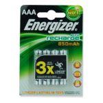 Energizer -  ENERGIZER |  pile baton blister 4ct1,2 volt rechargeable hr 03 nickel metal hydrure  7638900268324
