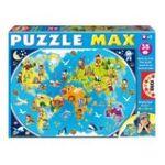 Educa Borras -  Puzzle 35 pièces max mappe monde 8412668138216
