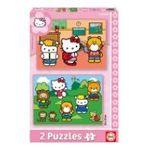 Educa Borras -  Puzzle 2x48 pièces Hello kitty 8412668142206
